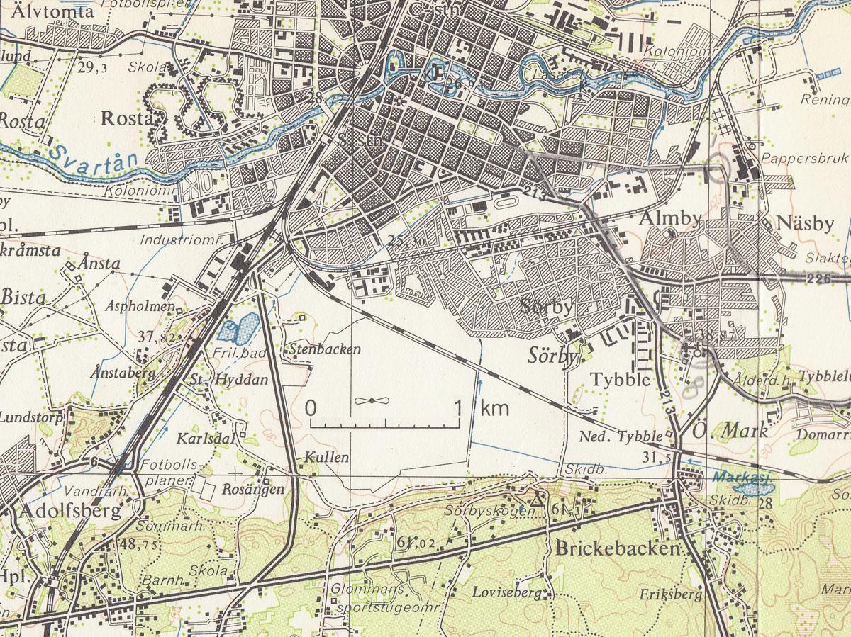 Gustavsviks Flygfalt Kartor